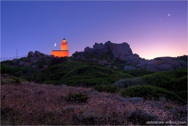 Lighthouse, Leuchtturm, Capo Testa, Sardinien