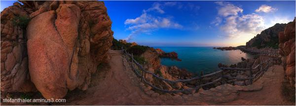 Coastal trail , costa paradiso, sardegna,