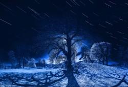 stars and moonlight
