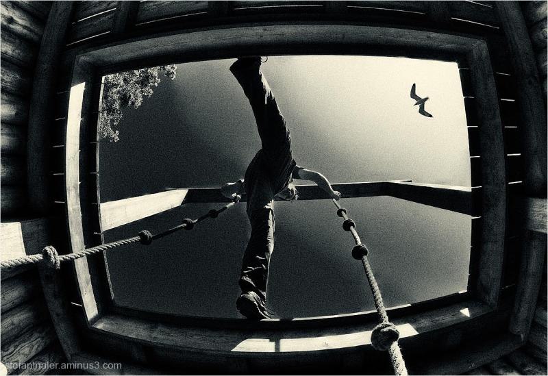 playground, Spielplatz, von unten, perpective
