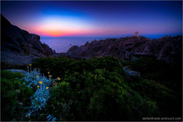 Sardegna, Sardinien, Sardinia sunset