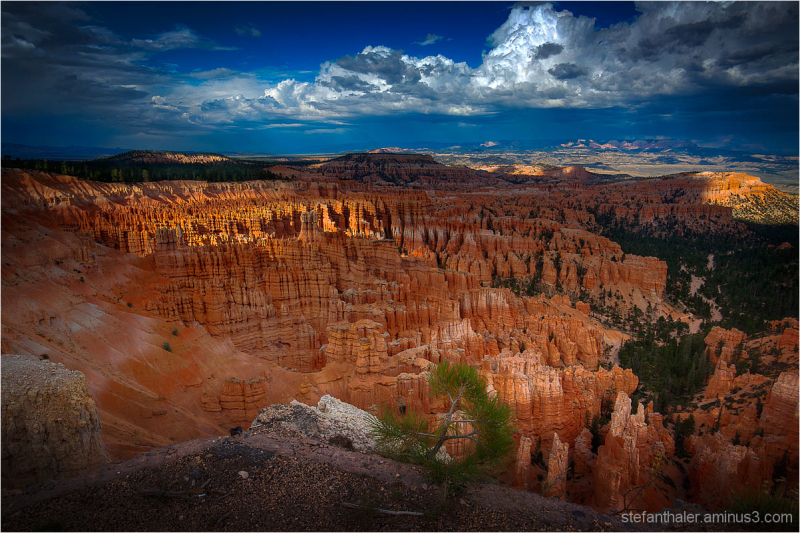 bryce canyon, view over bryce