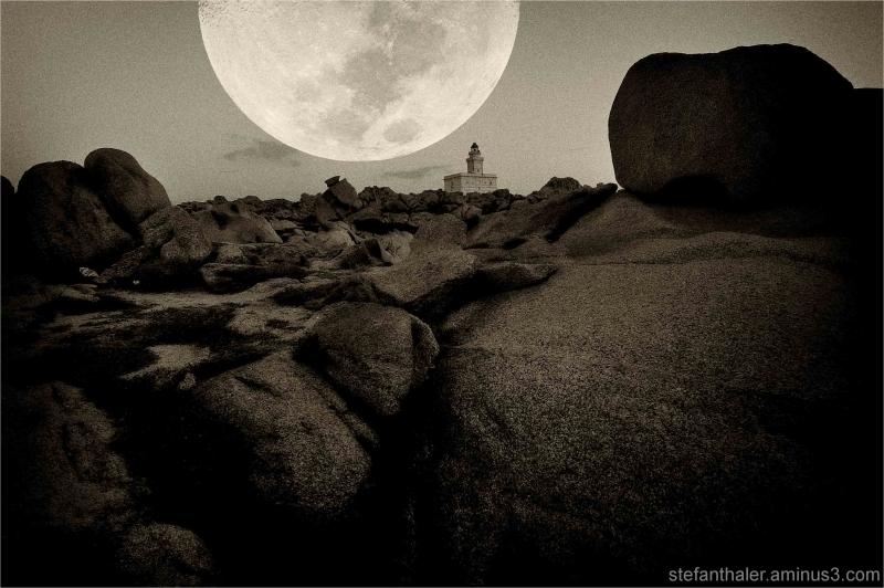 capo testa, moon, full moon, sardegna,