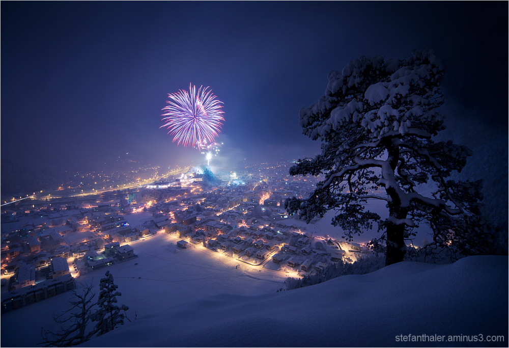 turn of the year, fireworks, 2012, kufstein,