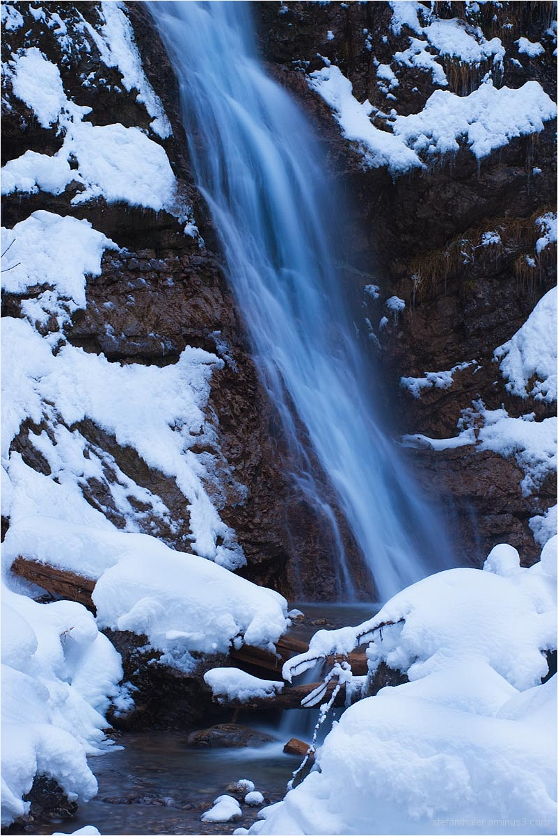 waterfall, wasserfall, blue water