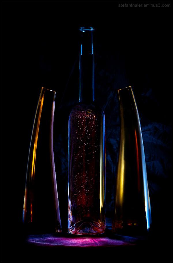 three bottles, bottles