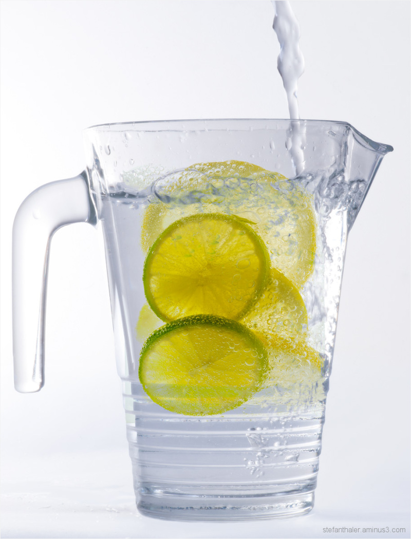 lemon water, lemon, fresh lemon