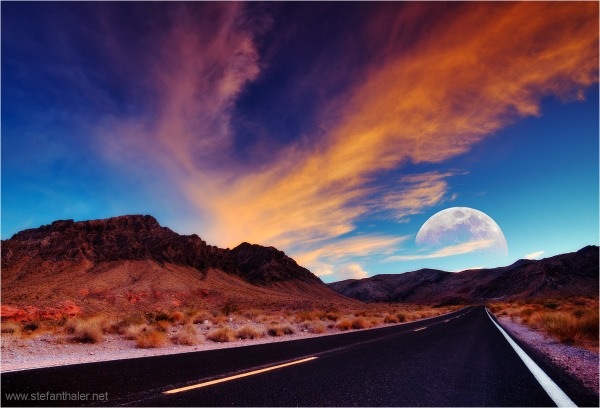 Highway mood, highway, moon, sony 900