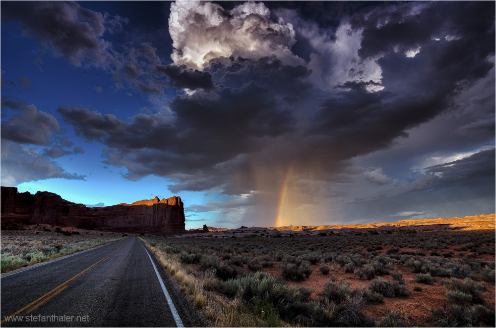 rain cloud, Arches, Storm, Rain, Road, clouds, use