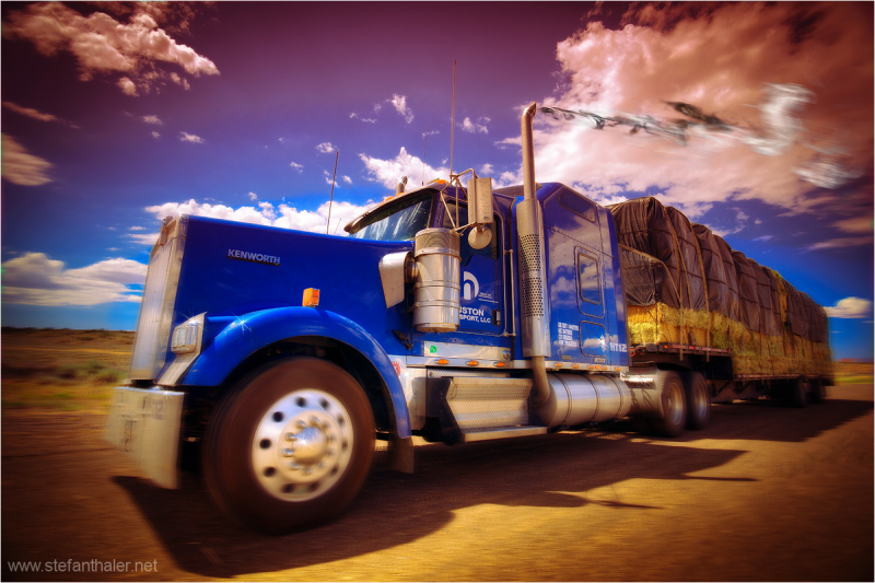 truck, highway,