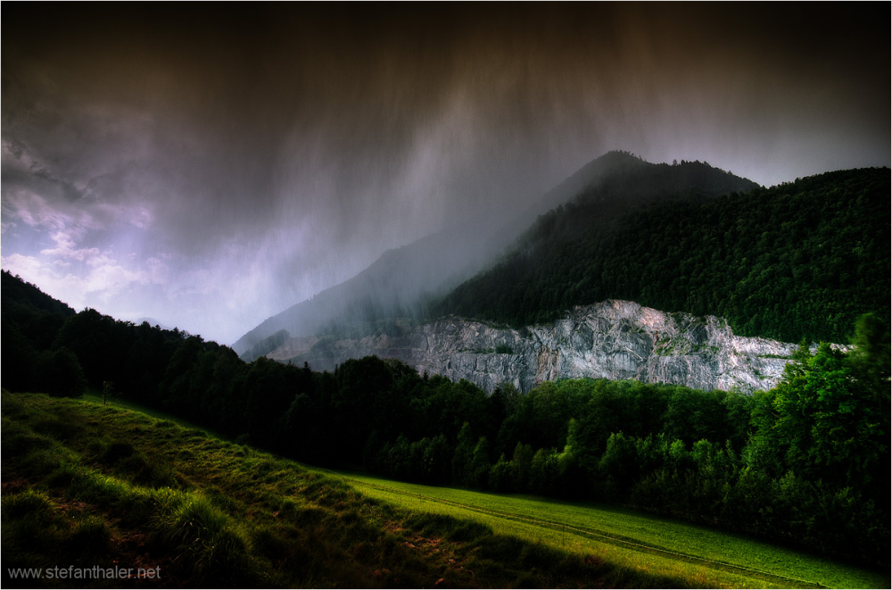 hailstorm, Thiersee, Steinbruch, Gewitter, Regen