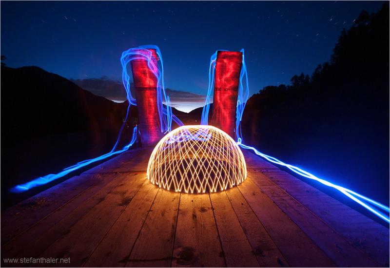 luminous phenomenon, lapp, night, stars, fantasy