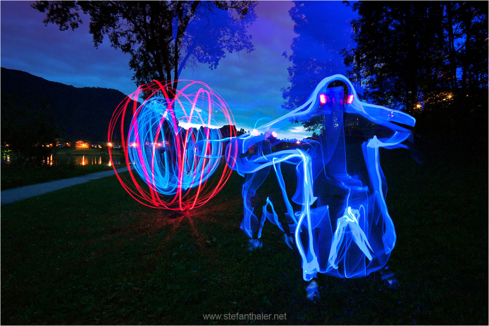 besucher, alien, lapp, light painting
