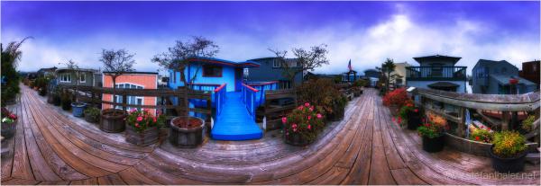 sausalito, blue house,