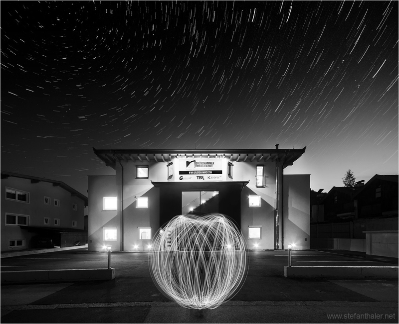 Architecture and light painting, lapp