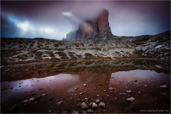 nebbia nelle Dolomiti, 3 zinnen, kleine Zinne,