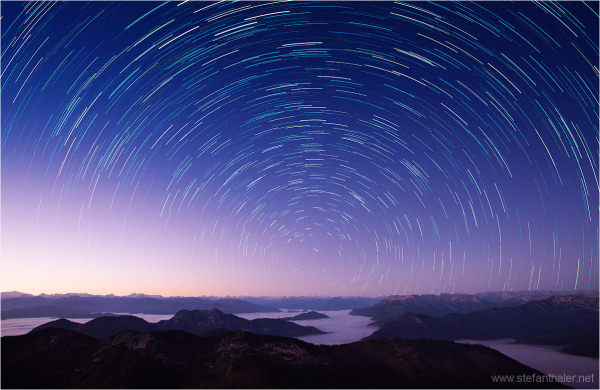 polaris, startrails,