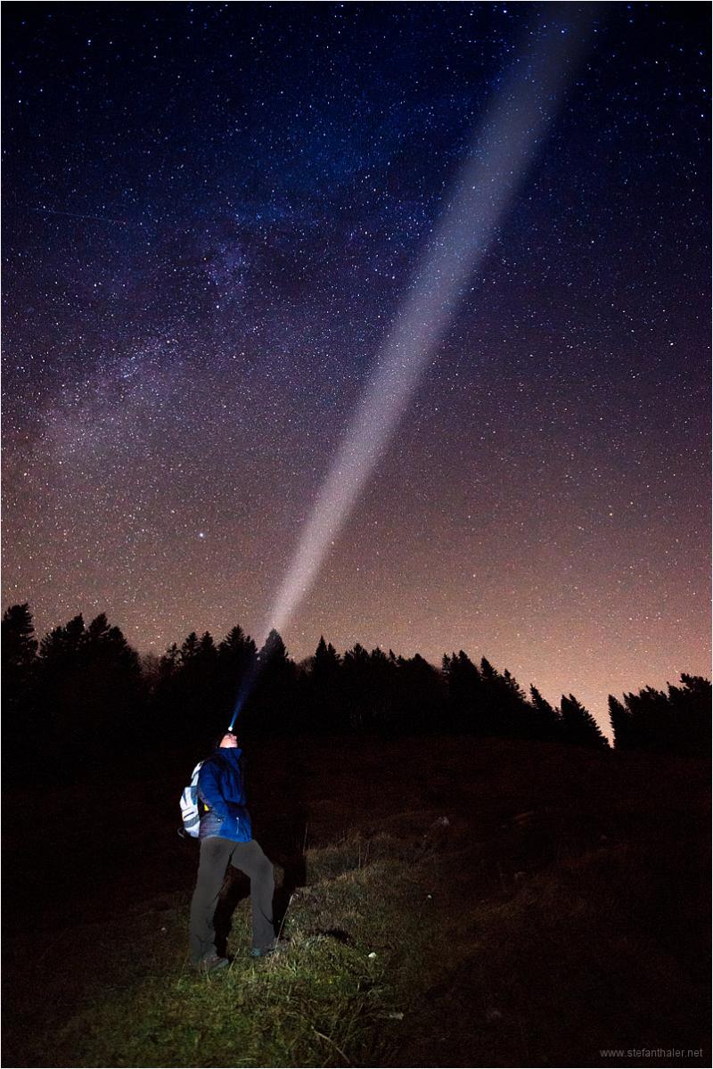 stars, night walk, stirnlampe,
