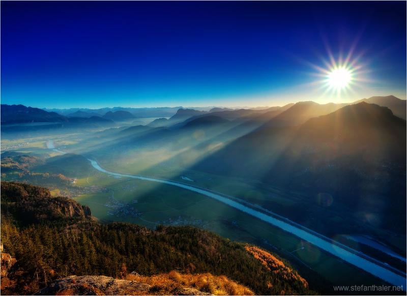 evening light, rays