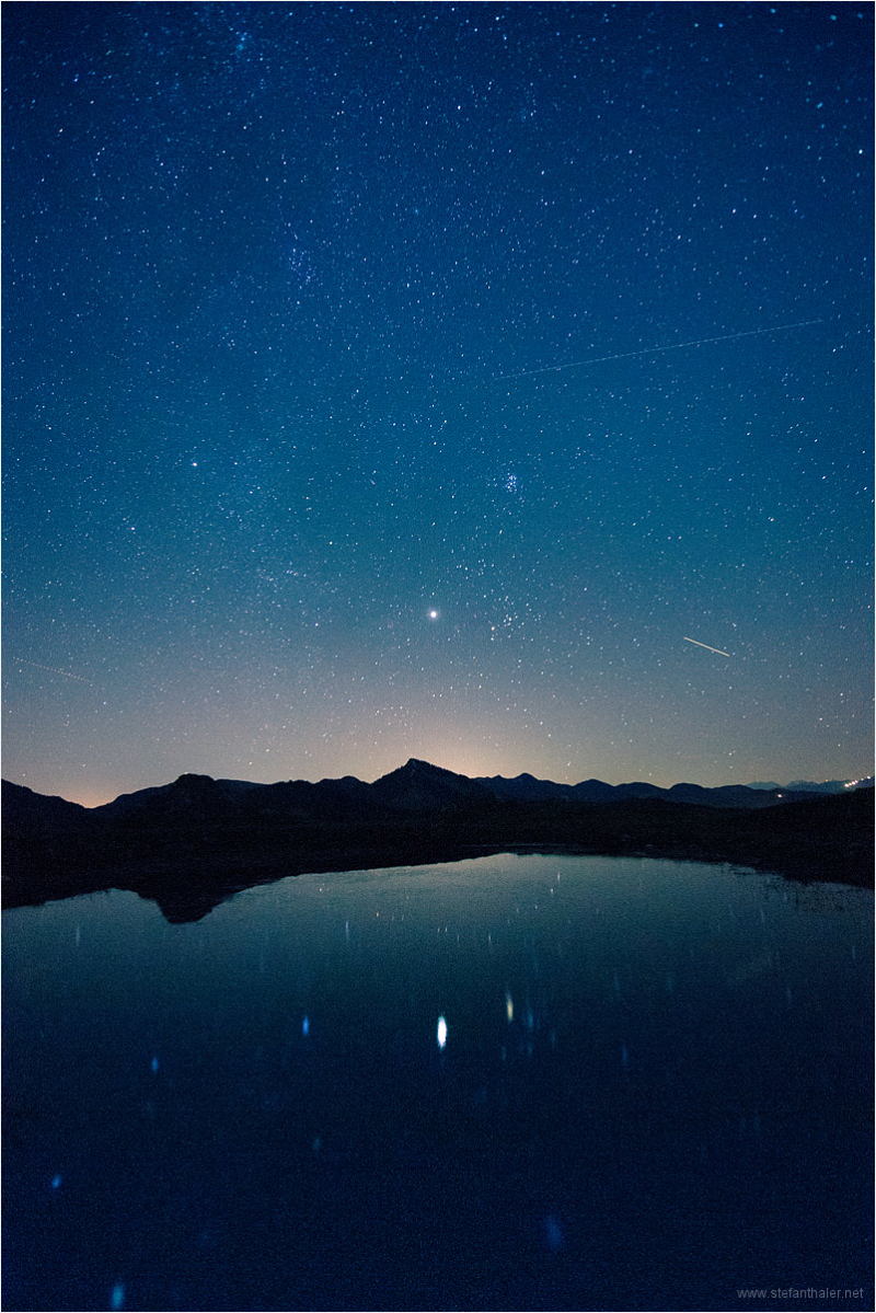 stars, night, night sky, pond and stars,