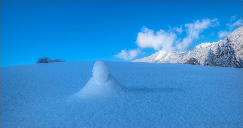winter, snow, Thiersee, snow figure