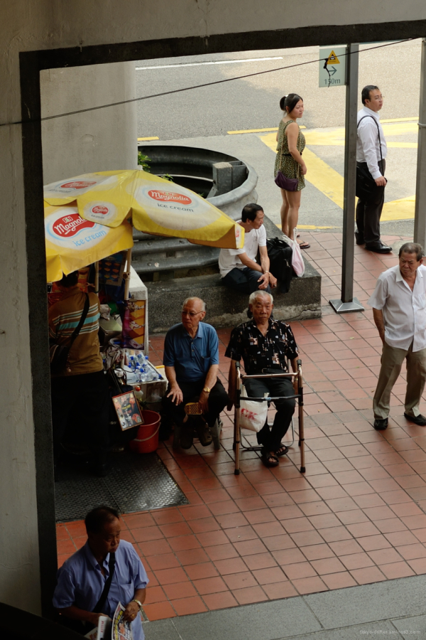 To old timers sit it out in China Town.