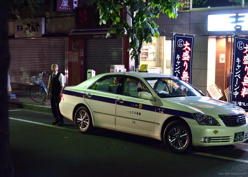 Late night smoke break in Ginza, Tokyo.