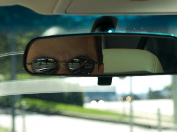 Driver in rear view