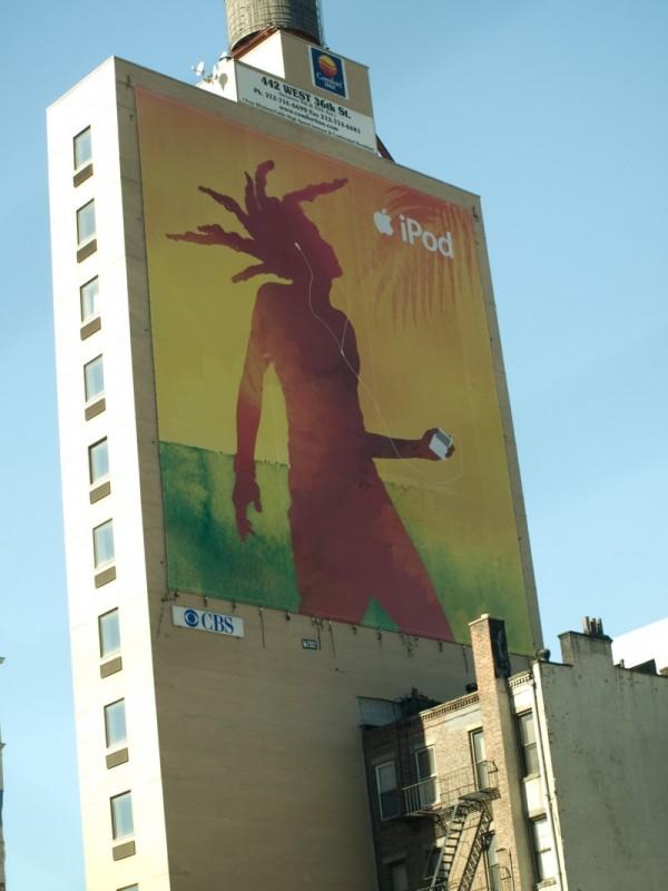 Billboard on a building