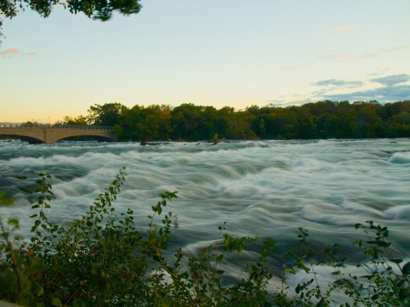 The Niagara River, upstream from the American Fall