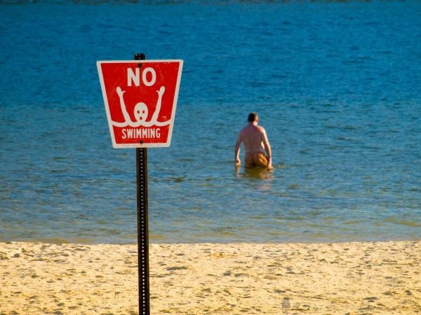 No Swimming -- Ha!