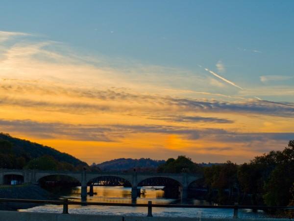 Lehigh River sunset