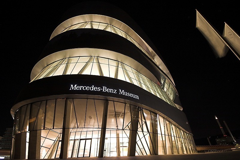 Mercedes-Benz Museum Stuttgart at Night