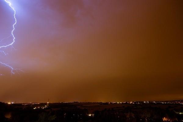 Lightning Strike over Marbach / Ludwigsburg