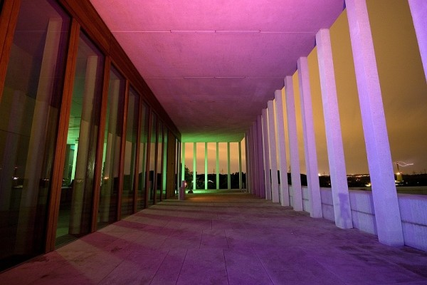 Museum of modern literature at night @ Marbach
