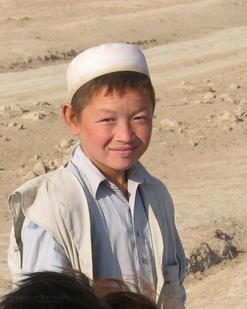 Turkmen boy in Chob Bahsh Afghanistan