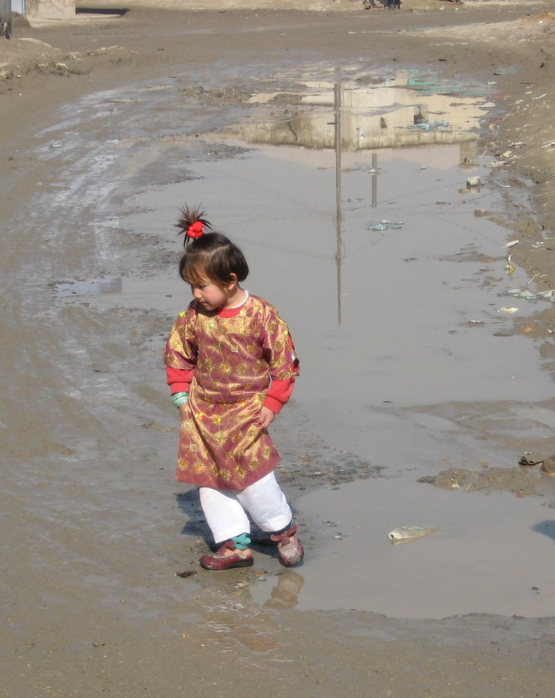 Hazara girl dressed for an occasion in Kabul