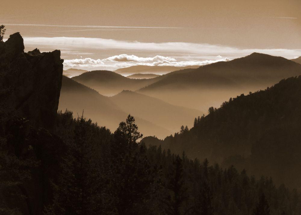 Autumn mist in the Front Range Boulder Colorado
