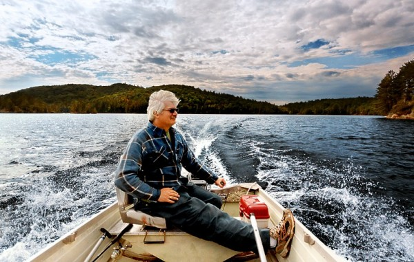 Uncle Dan on his Boat