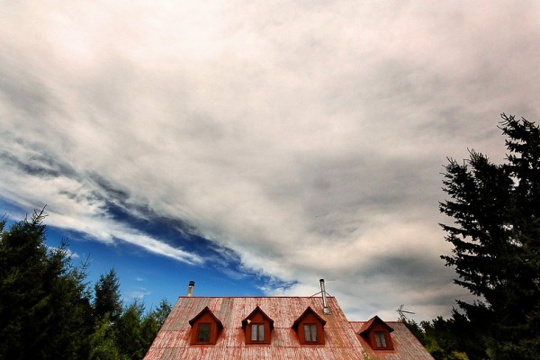Big Cloud over Red Roof