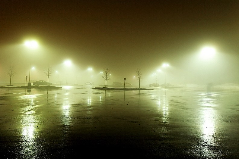 Foggy Parking Lot