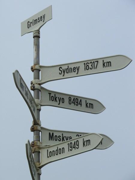 polar circle sign on Grímsey