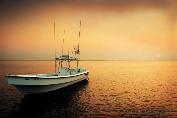 @ anchor under a hazy sunset.