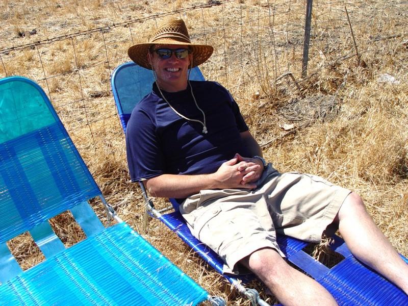 waiting under the California sun