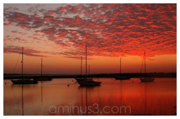 sunrise on the docks
