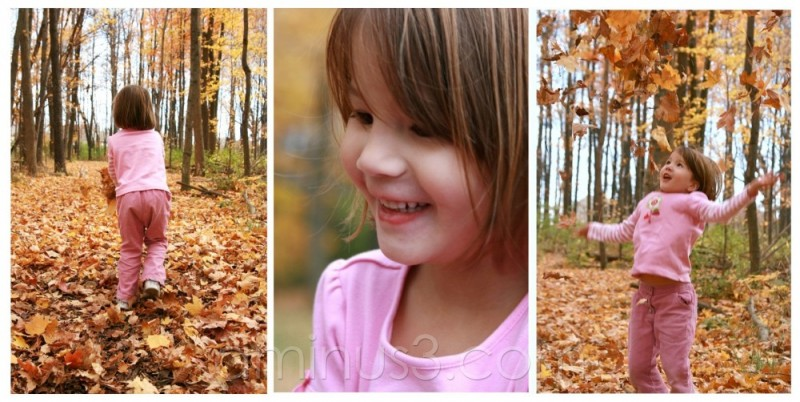 Amelie in leaves