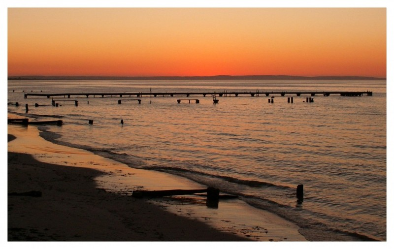 sunset in western australia
