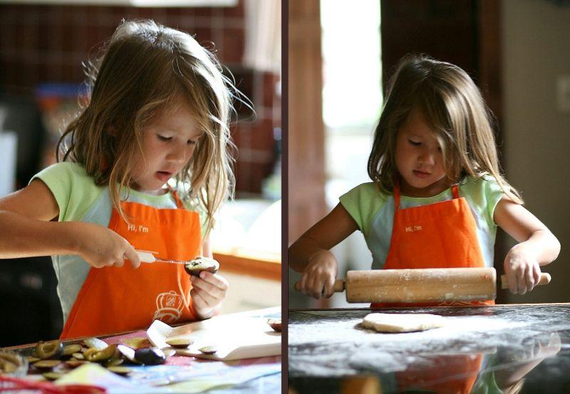 making plum tart