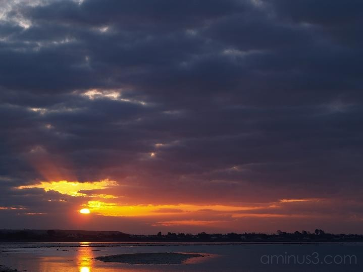sunrise, water, sea, morning