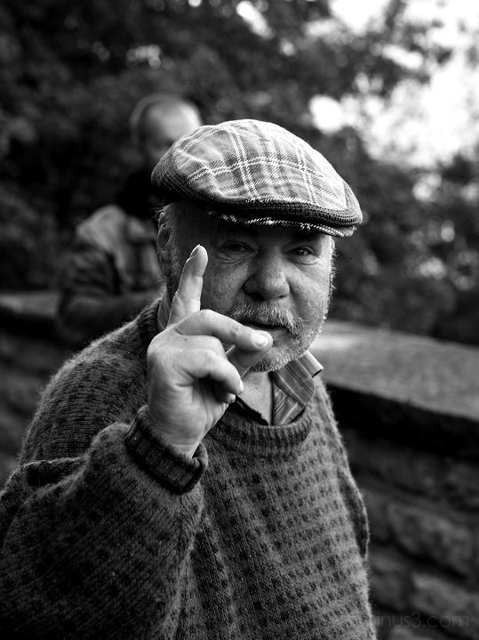 portrait, man, finger